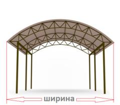 Навесы для авто, машины, козырьки, из поликарбоната, установка производство Киев